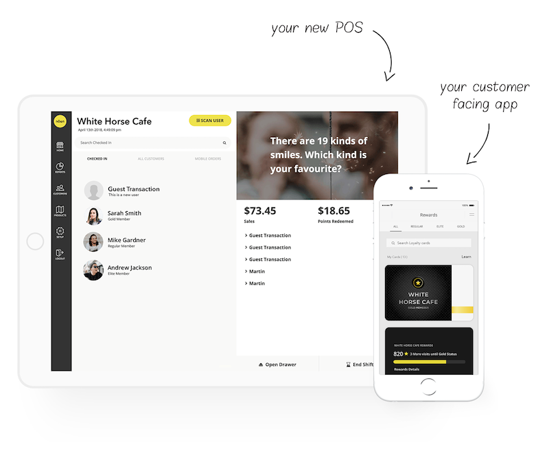 All-in-one POS customer app